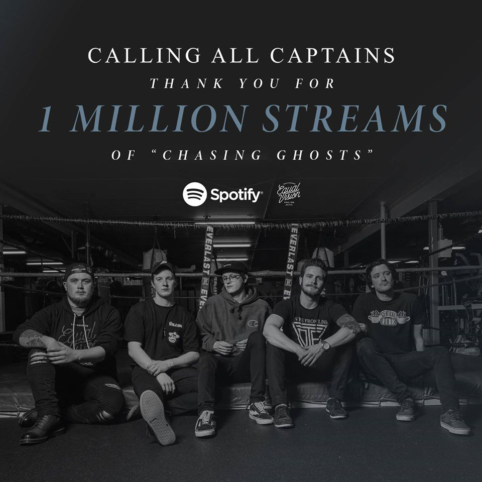 Chasing Ghosts 1 Million Streams on Spotify