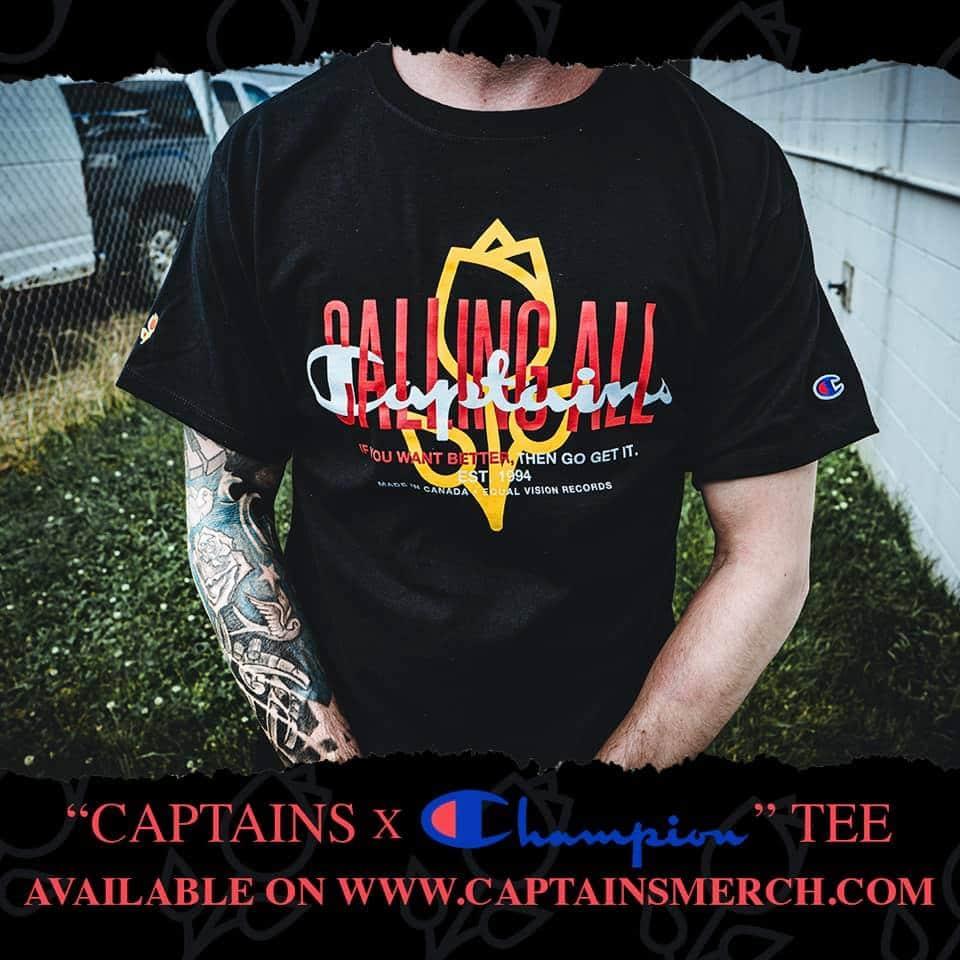 Captains x Champion tee
